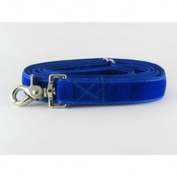 Swiss Velvet Leash in Indigo