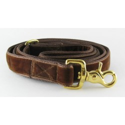 Swiss Velvet Leash In Chocolate