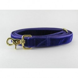 Swiss Velvet Leash in Purple