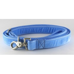 Swiss Velvet Leash in Sky Blue