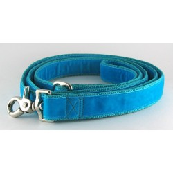 Swiss Velvet Leash in Aqua