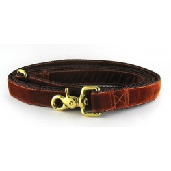 Swiss Velvet Leash in Burnt Sienna