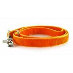 Swiss Velvet Leash in Creamsicle