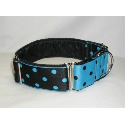 Turquoise/Black Polka Dots