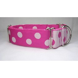 Fushia Dots Collar