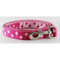 Fushia Dots Matching Leash