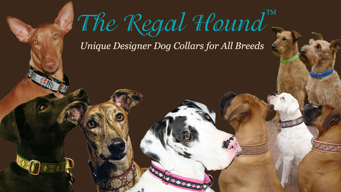 The Regal Hound - Custom made Designer martingale collars and snap-release buckle collars for all dog breeds